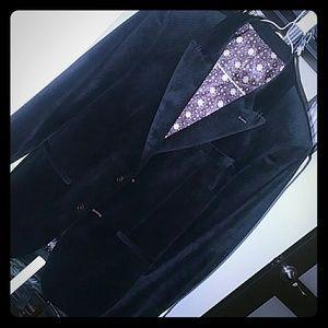 Eleganza Uomo Black Slim Blazer 38R